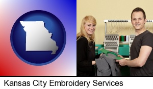 embroidery services company employees in Kansas City, MO