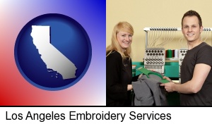 embroidery services company employees in Los Angeles, CA