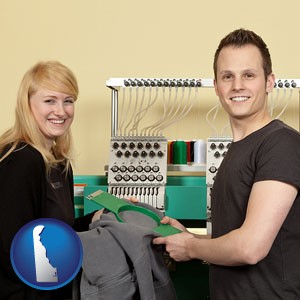 embroidery services company employees - with Delaware icon