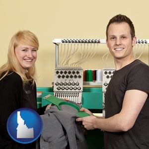 embroidery services company employees - with Idaho icon