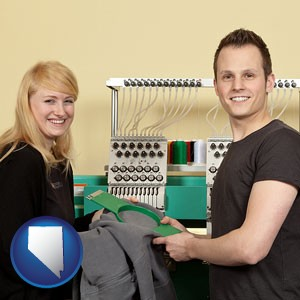 embroidery services company employees - with Nevada icon